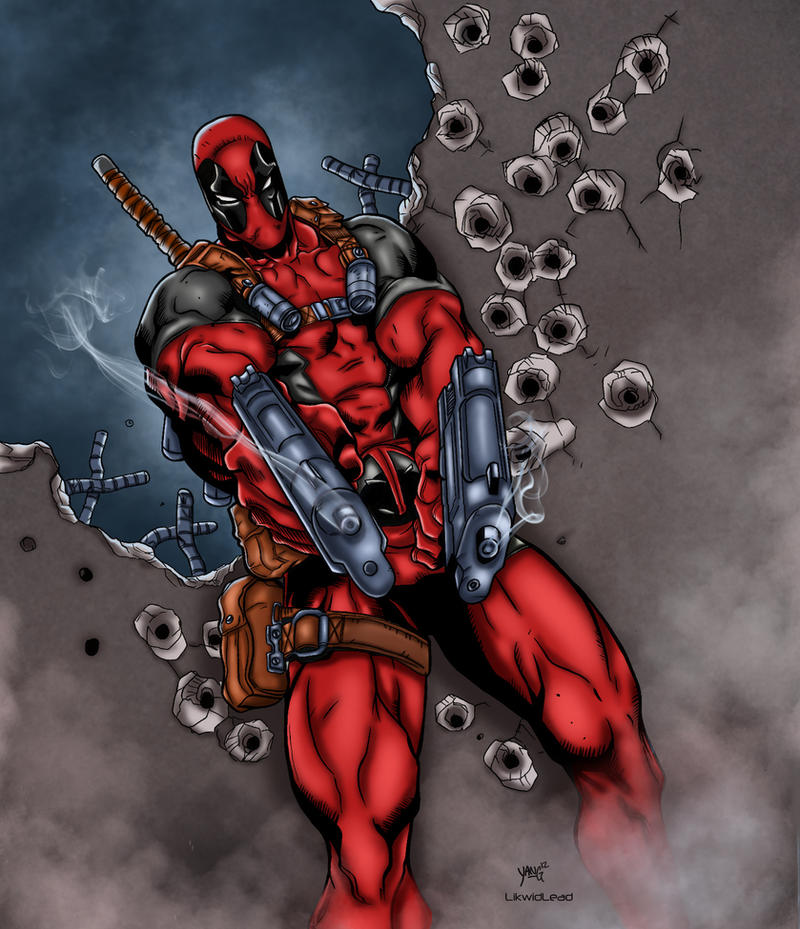 Deadpool Colored by likwidlead