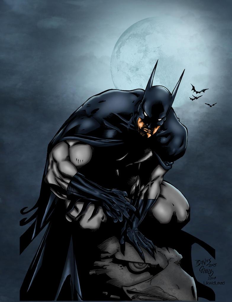 Batman By Ed Benes Colored by likwidlead
