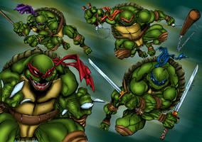 Teenage Mutant Ninja Turtles Colored by likwidlead