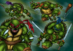 Teenage Mutant Ninja Turtles Colored