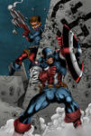 Captain America And Bucky Colors