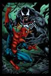 Spiderman Vs Venom Colored