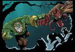 Hellboy Vs Maestro Colored