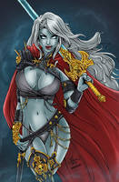 Lady Death Colored by likwidlead
