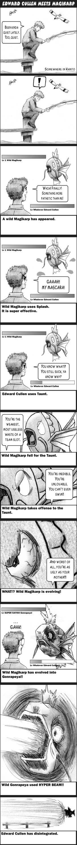 Edward Cullen meets Magikarp