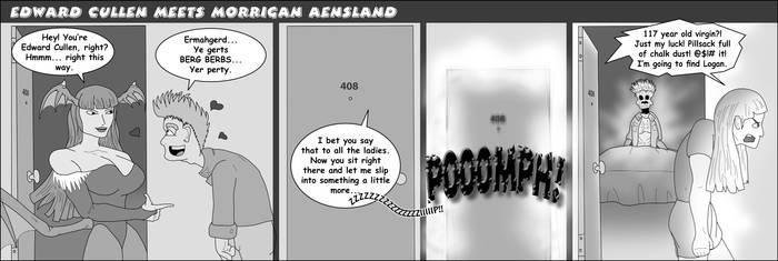 Edward Cullen meets Morrigan Aensland