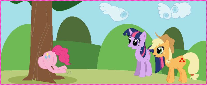 Pinkie Pie's A Little Stuck By Mezame9 On DeviantArt