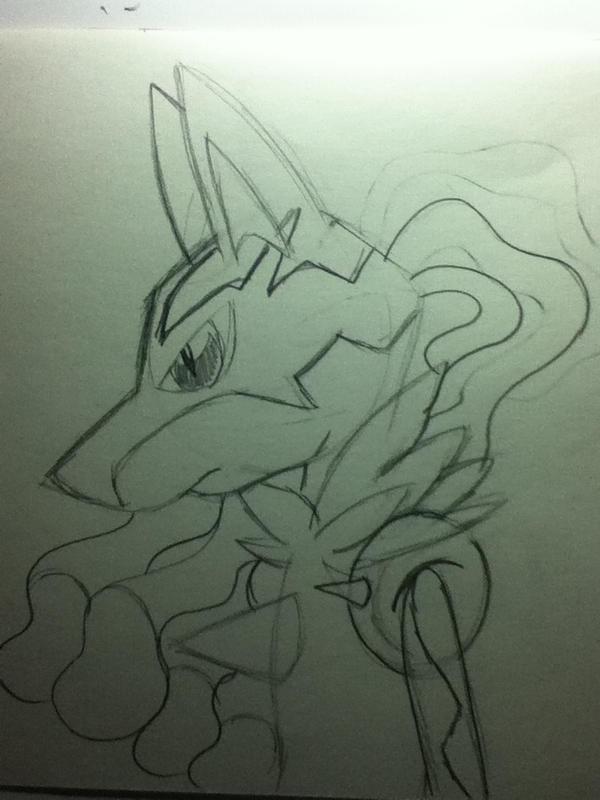 Mega Lucario?? xD by SonicTHW93