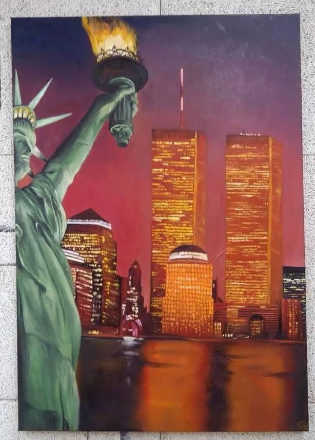 World Trade Center Oilpainting by LaraWegenaerArts