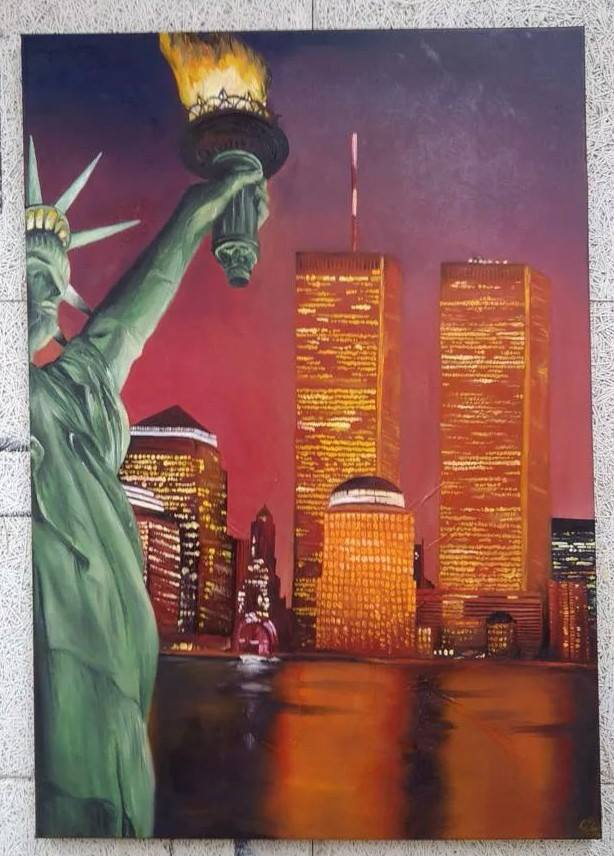 World Trade Center Oilpainting by LaraWegenaerArts