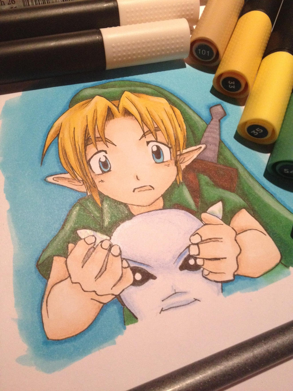 Link and the Zora Mask by LaraWegenaerArts