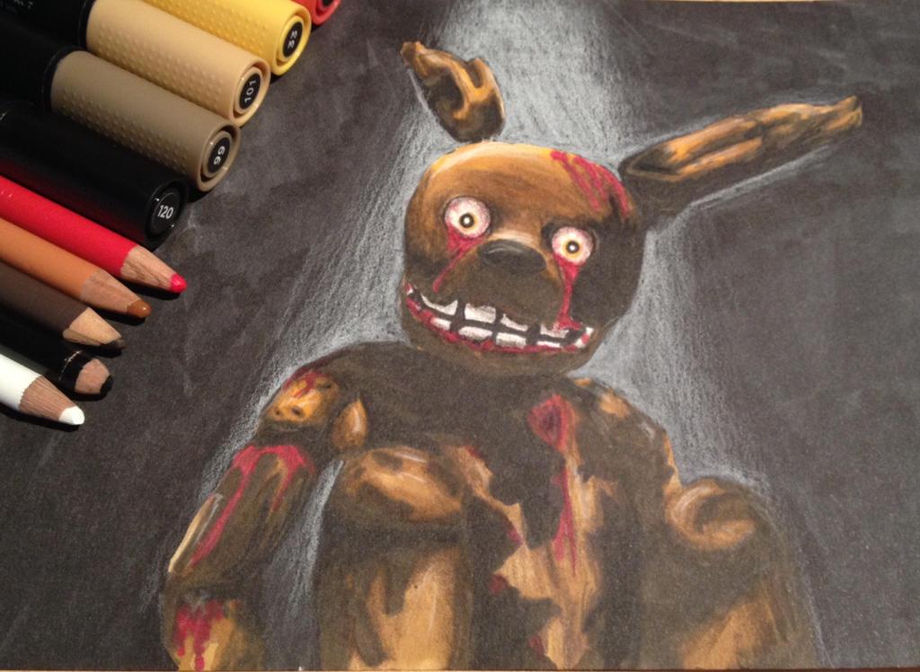 Dead Purple Guy Sprintrap Five Nights at Freddy's3 by LaraWegenaerArts