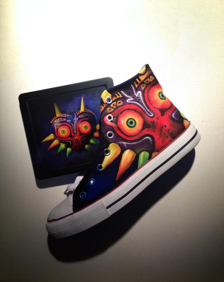 Majoras Mask Handpainted Shoes by LaraWegenaerArts