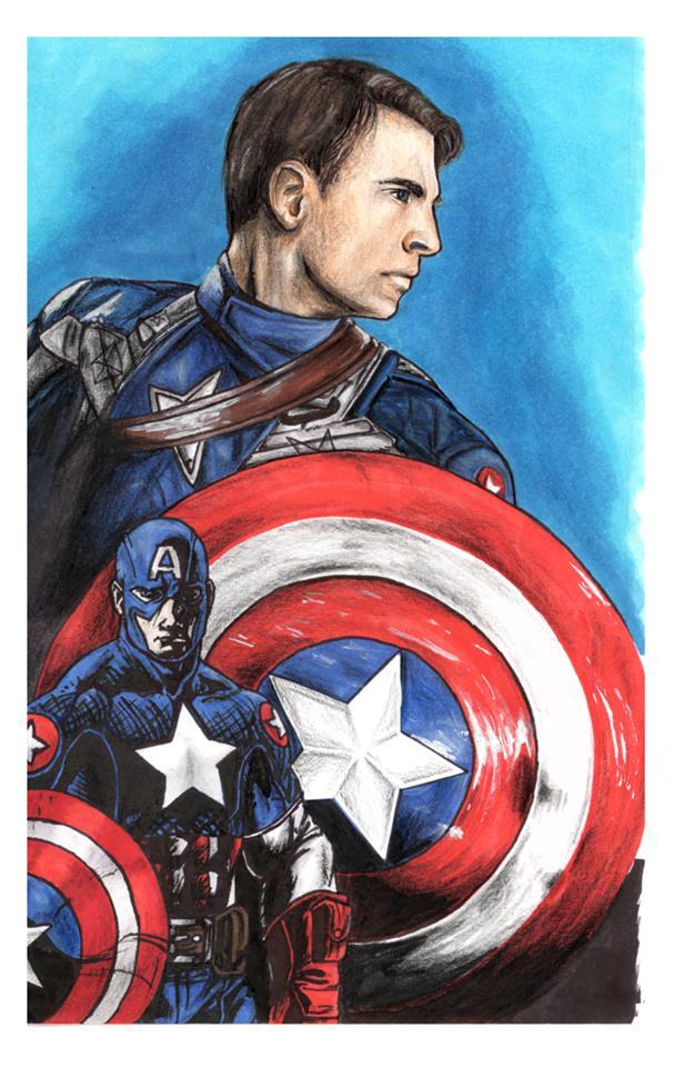 Captain America by LaraWegenaerArts