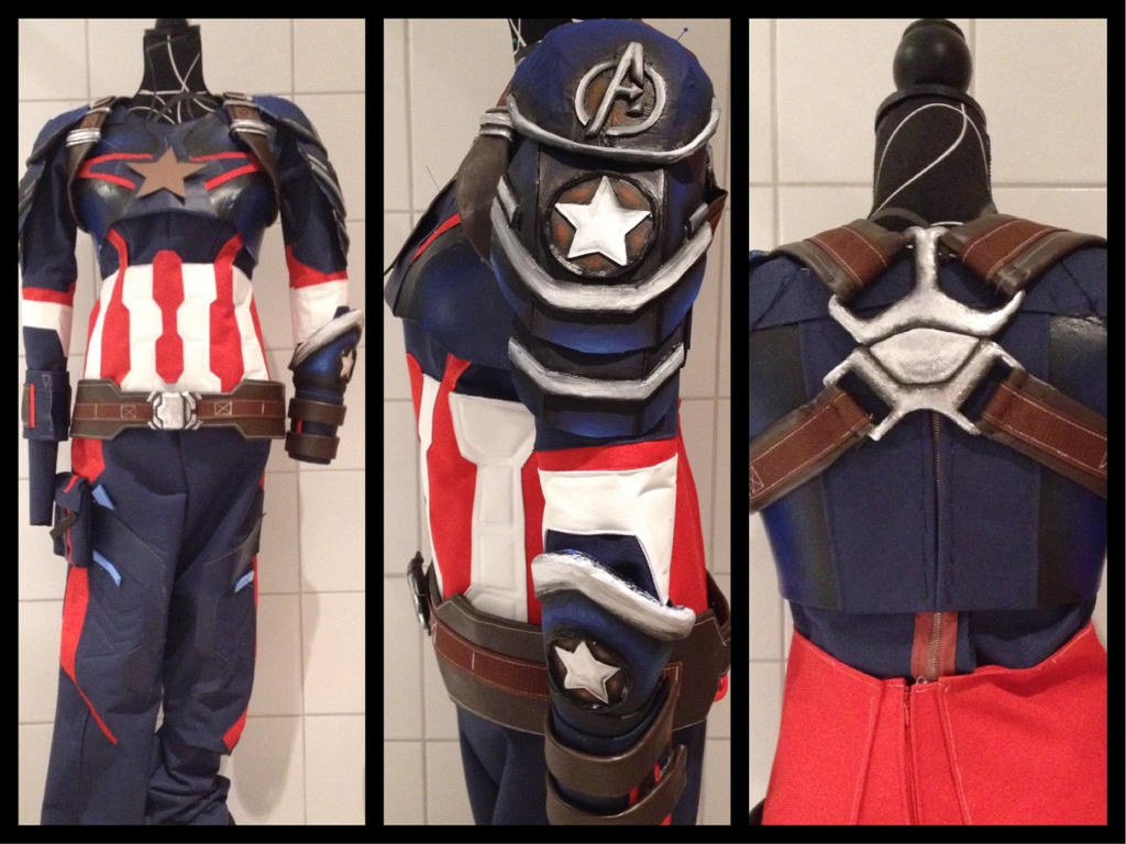 Captain America Cosplay Progress by LaraWegenaerArts