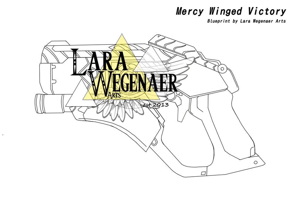 Mercy Winged Victory Gun by LaraWegenaerArts