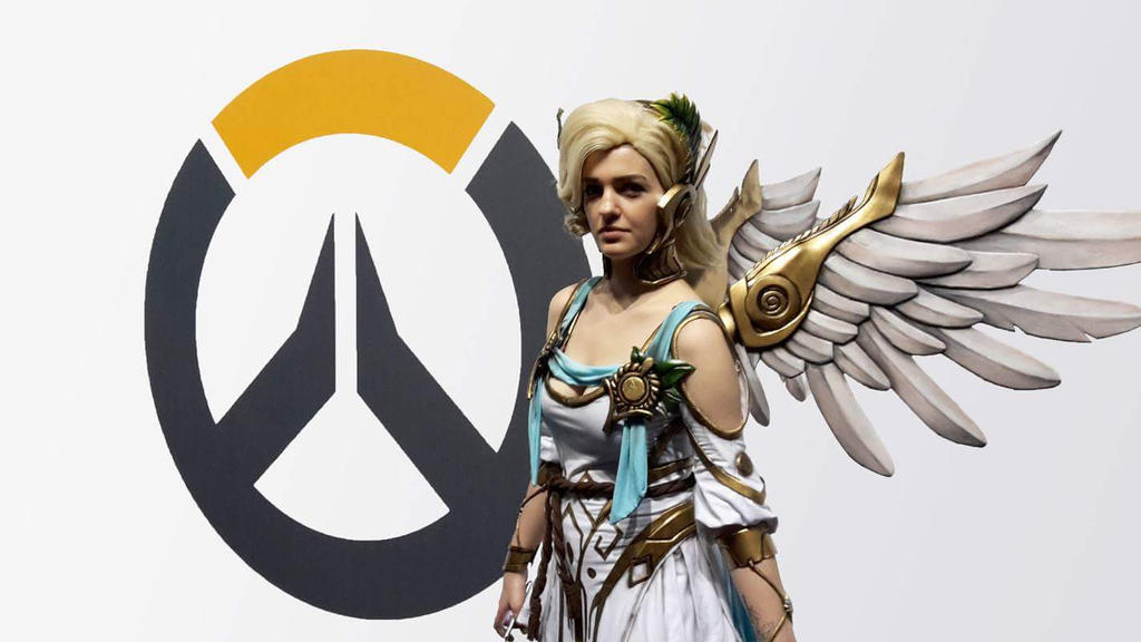Winged Victory Mercy Cosplay - Overwatch Summer by LaraWegenaerArts
