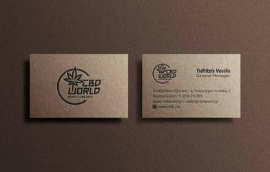 hemp store design business card by deviantonis
