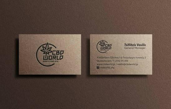 hemp store design business card