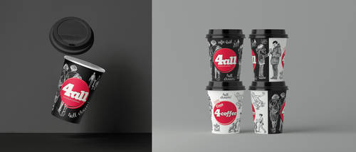 Paper Cup design by deviantonis