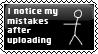 Mistakes Stamp by SuperNeko64