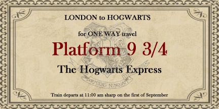 Билет на поезд в хогвартс своими руками 59