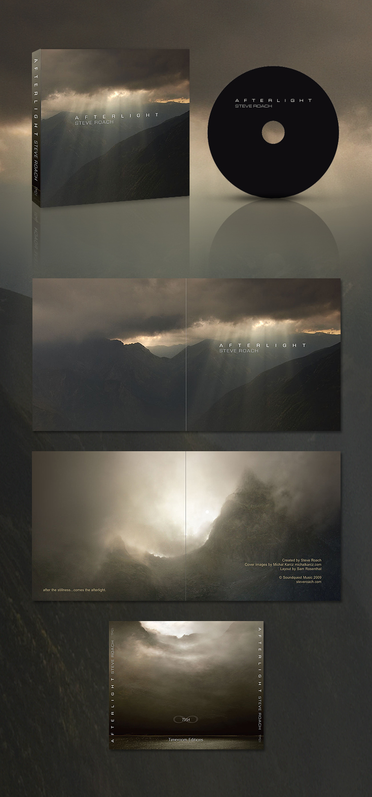 STEVE ROACH Afterlight cover by Karezoid
