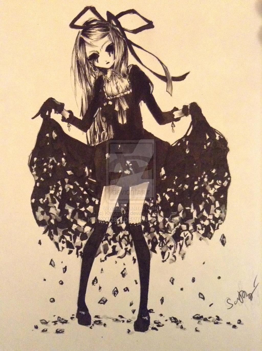Creepy Girl By Kiyomi280 On DeviantArt