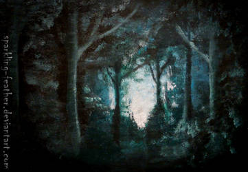A light in the end of a forest by Torifeather