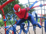 Spider girl in the Park