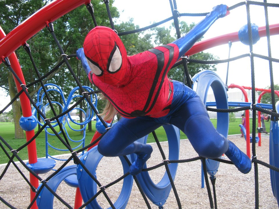 Spider girl in the Park by SciFeyeCandy