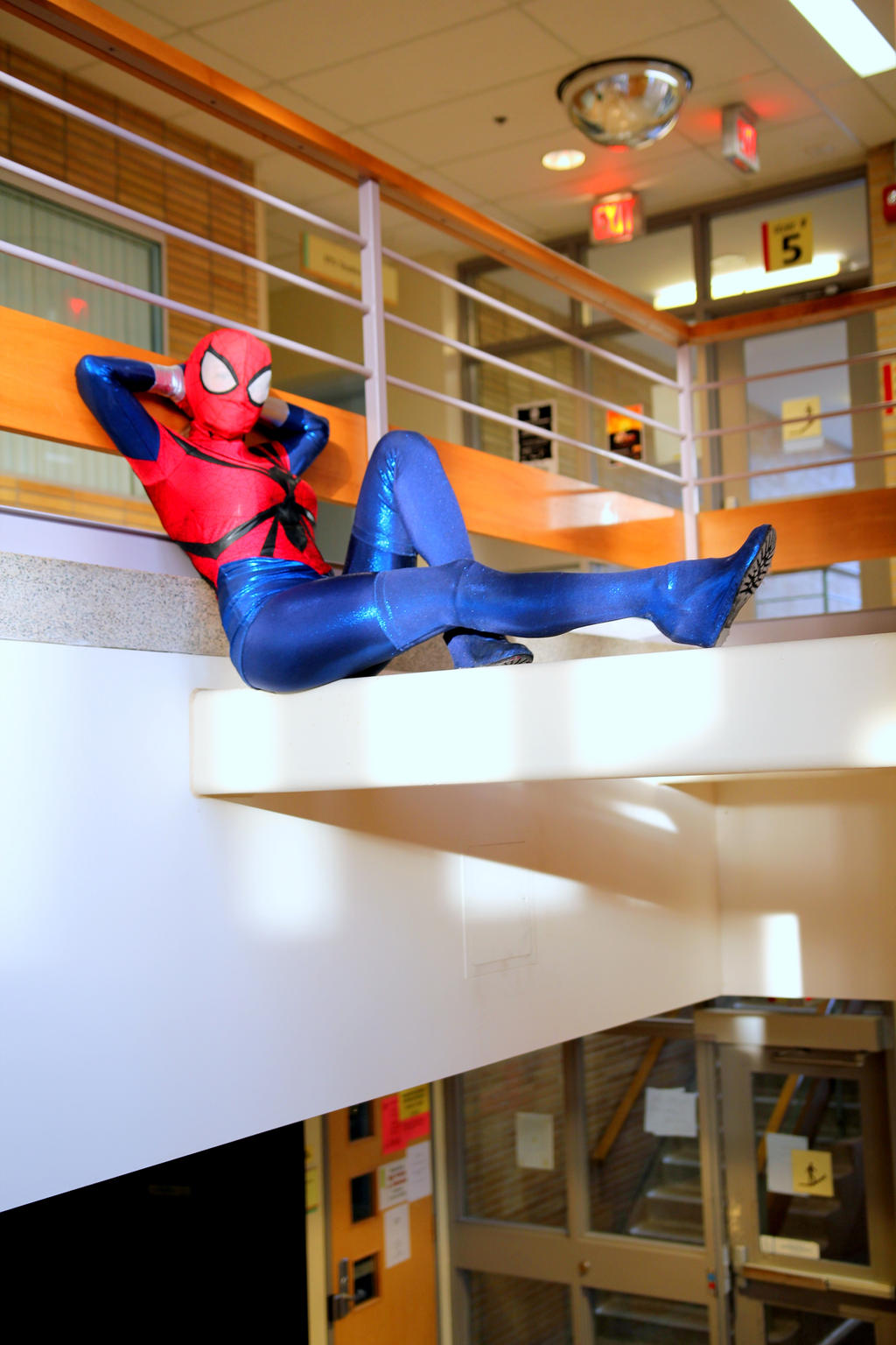Spider girl lounging in Degrassi