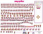 Amy Rose sprites by SexyAmyRosepixelart