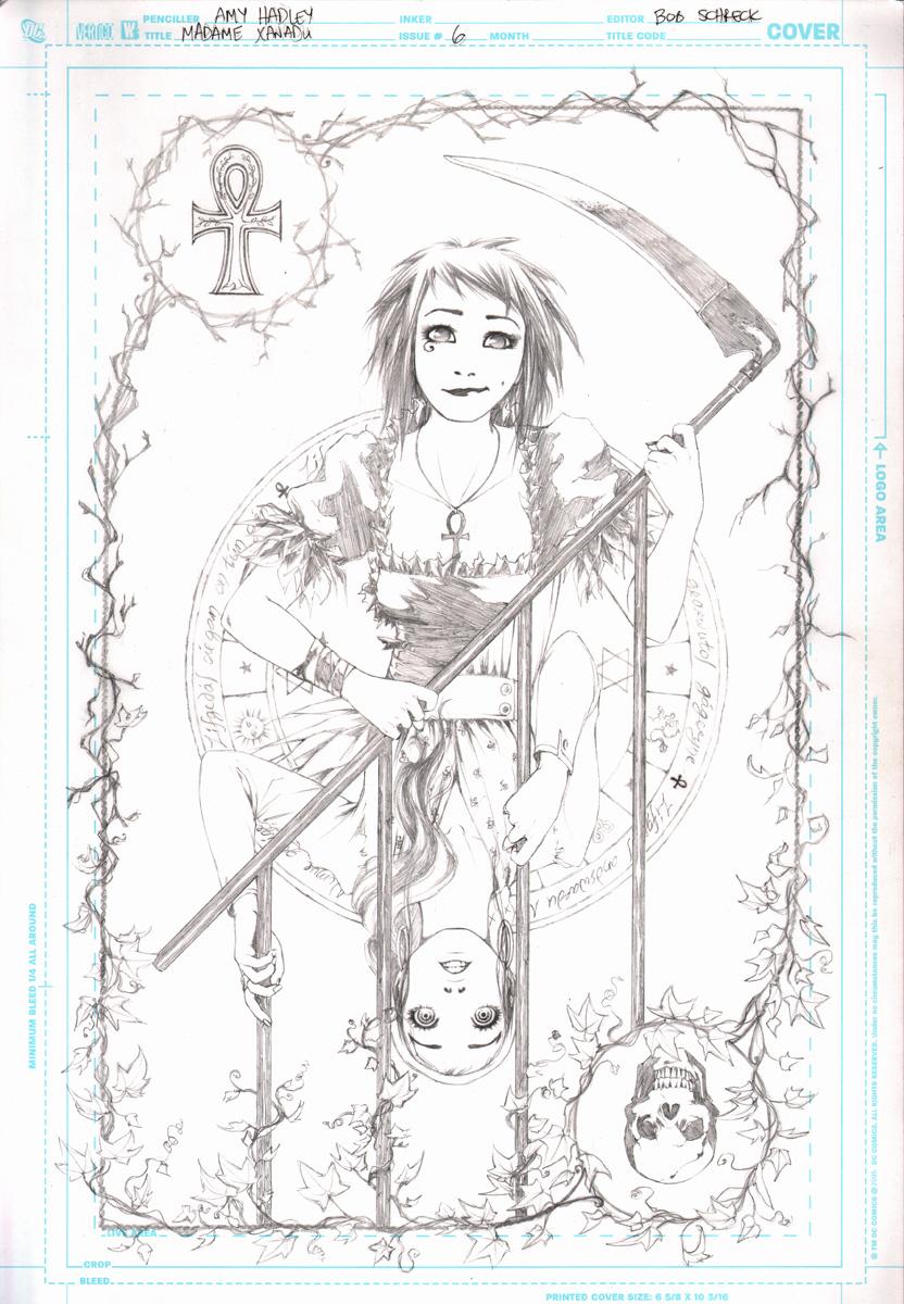 Madame Xanadu Cover 6 Pencils by Tentopet