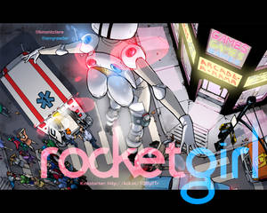 Rocket Girl Desktop Wallpaper!