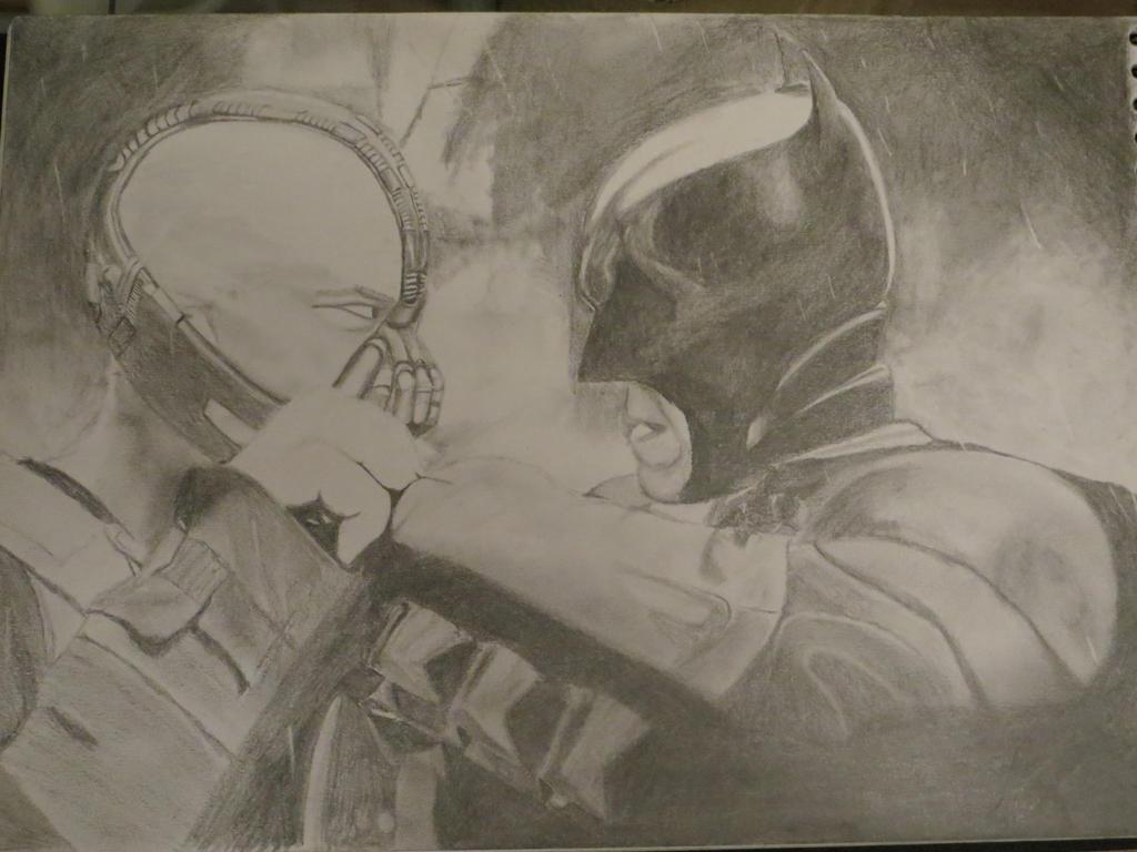batman vs bane by diosrubra
