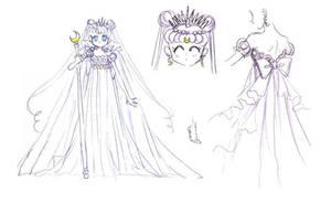 Materials Artbook Moon Princess Serenity