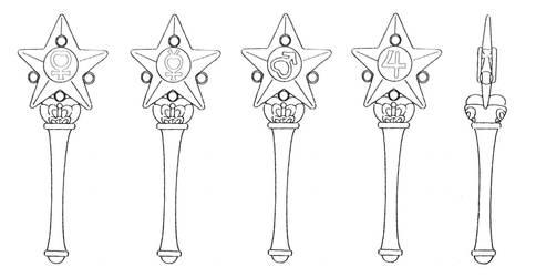 2nd Arc Star Power Henshin Sticks by Moon-Shadow-1985