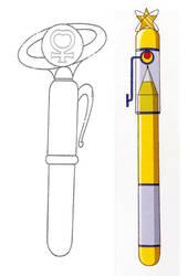 Venus Power Henshin Pen (1992 and 2014 Anime) by Moon-Shadow-1985