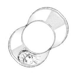 Crescent Moon Compact - Open (Manga)