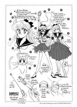 Black and White MANGA Sailor V Designs (1990 Manga