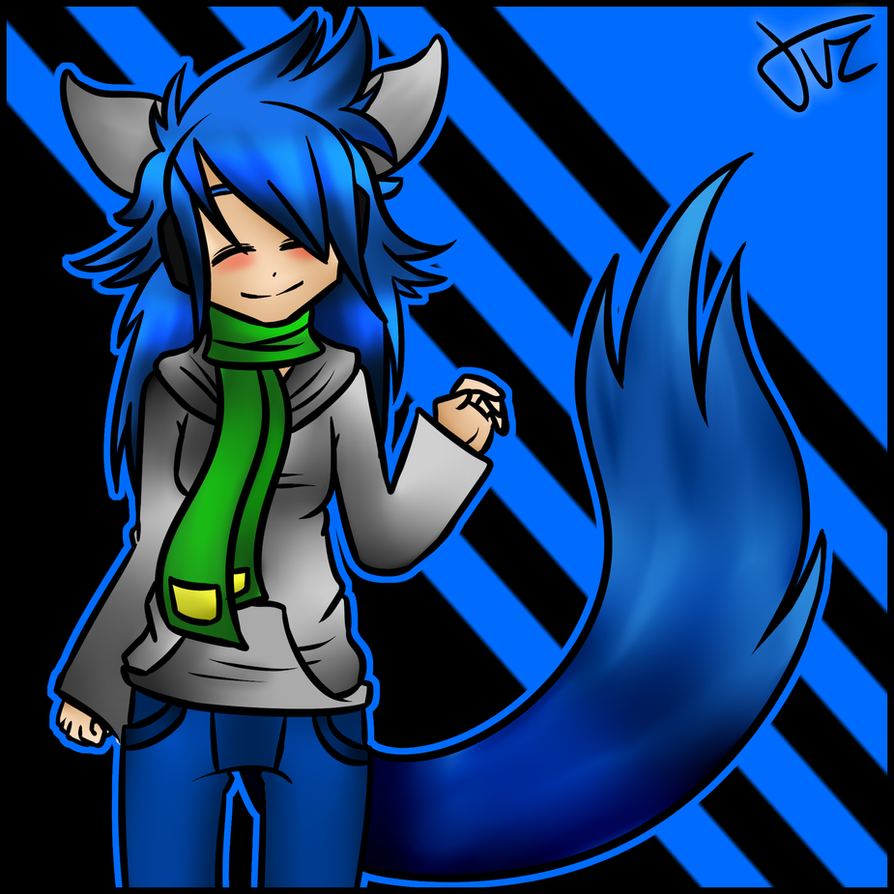 Gift: Scarfy the wolf by TVZRandomness