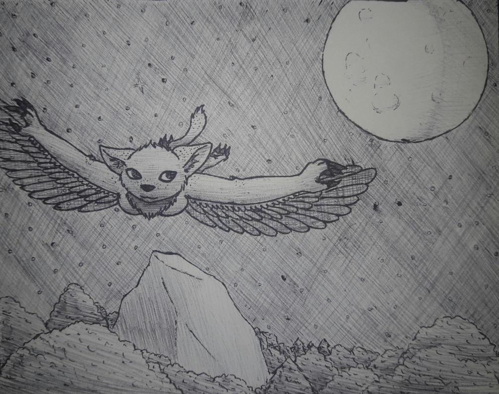 Drawing Challenge Day 19 - Flight by eternityOnlooker