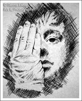 Ryan Adams crosshatch sketch by 16knives