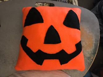 Halloween Pumpkin Jack O'Lantern Pillow For Sale