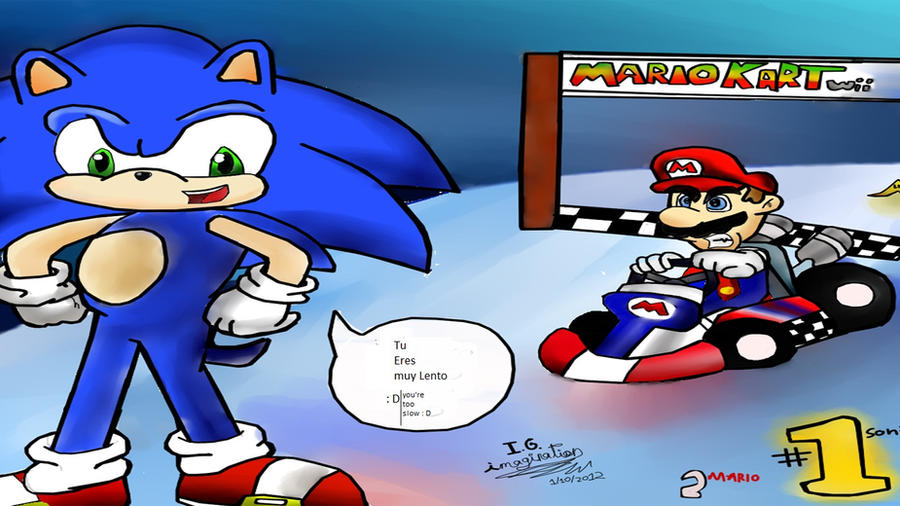 My drawing mario kart wii and sonic by i g imagination for Coupe miroir mario kart wii