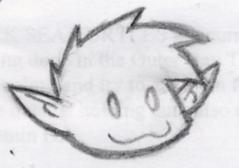 Gar doodle from work by Roxysurferchick