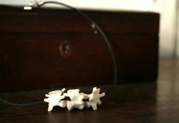 resin vertebrae necklace by helterbraegen