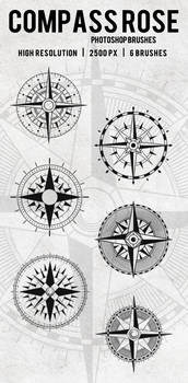 Compass Rose Photoshop Brushes