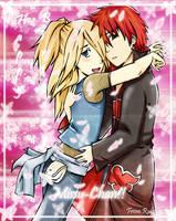 Sasodei gift for Missu-chan by ninjagirl-rukai